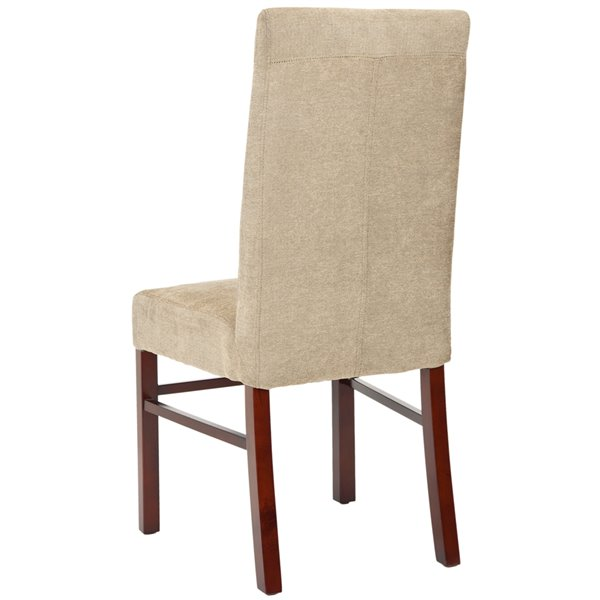 Safavieh Classic 20-in H Side Chair  - Sage Seat and Cherry Finish (Set Of 2)