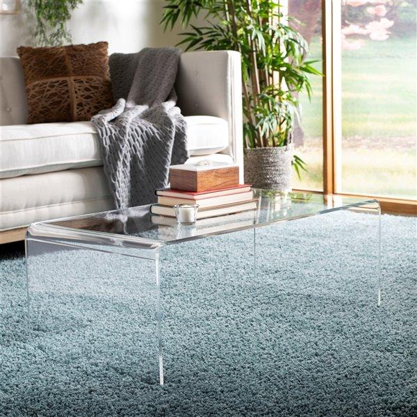 Safavieh Atka  Acrylic Rectangular Coffee Table - Clear