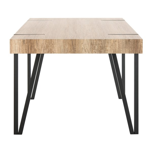 Safavieh Alyssa Rustic Midcentury Wood Top Dining Table - Canyon Grey - 35.4-in L x 59.1-in W - Sits 4