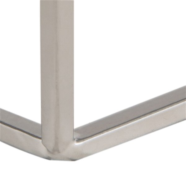 Safavieh Abella Silver and Whie Pentagon Accent Table