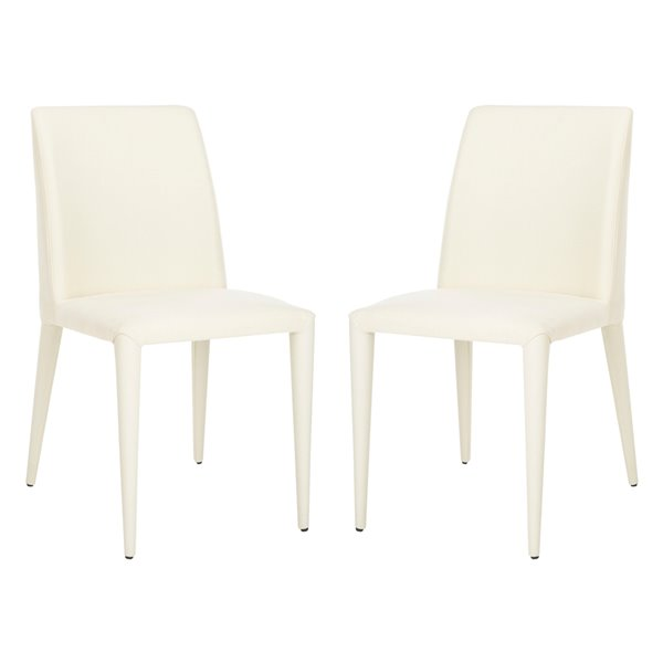Safavieh Garretson 18-in H Linen Side Chair  - Beige Seat and Finish (Set Of 2)