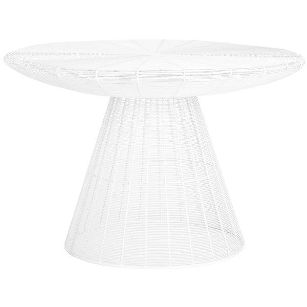 Safavieh Reginald White Wire Coffee Table - 29-in Diameter