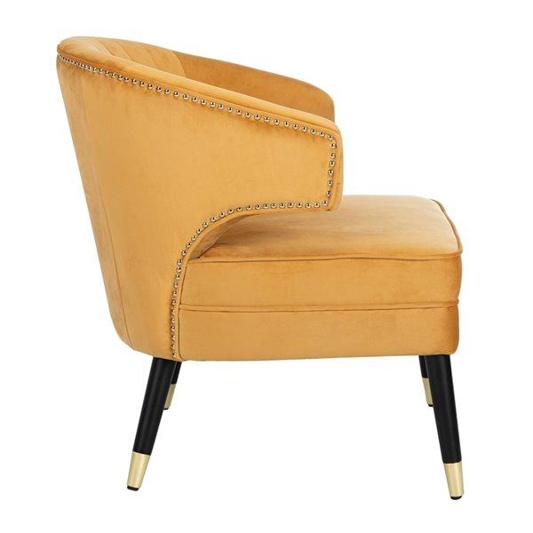 Safavieh Stazia Wingback Velvet Accent Chair - Marigold/Black