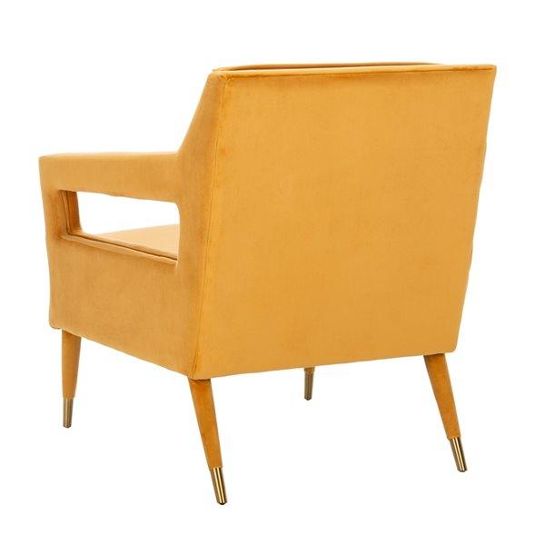 Safavieh Mara Tufted Velvet Accent Chair - Marigold