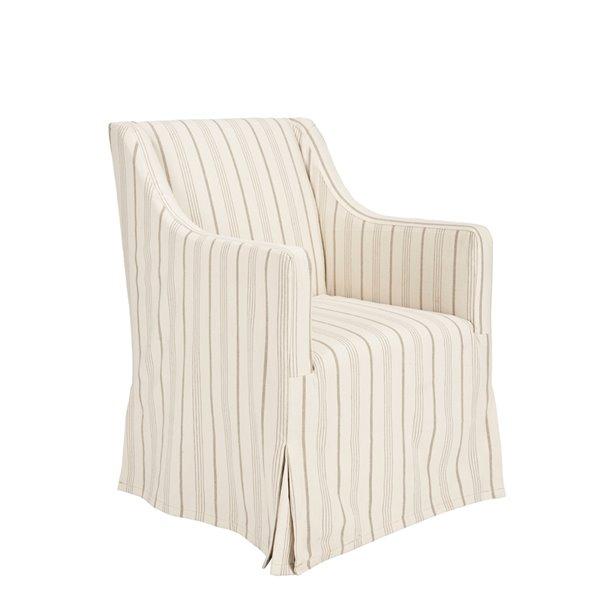 Safavieh Sandra Slipcover Chair  - Beige Seat and Java Finish