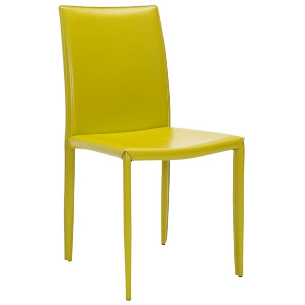 Safavieh Karna 19-in H Dining Chair  - Green Seat and Finish (Set Of 2)