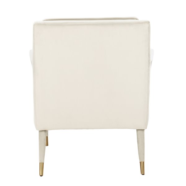 Safavieh Mara Tufted Velvet Accent Chair - Silver