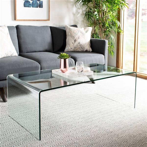 Safavieh Willow Glass Rectangular Coffee Table