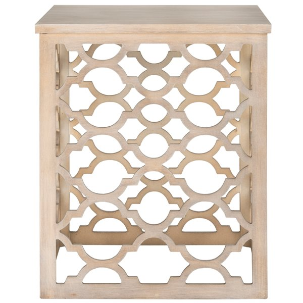 Safavieh Lonny End Table in  Grey