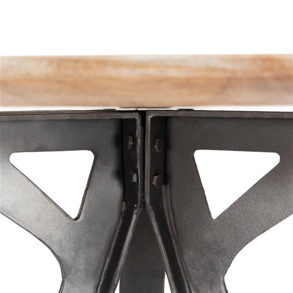 Safavieh Axel Tripod Pub 27,5-in Round Table - Grey Wash and Black -   - Sits 2