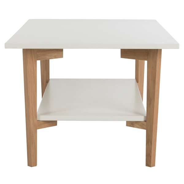 Safavieh Caraway Rectangular Wood Coffee Table - White Taple Top with Natural legs