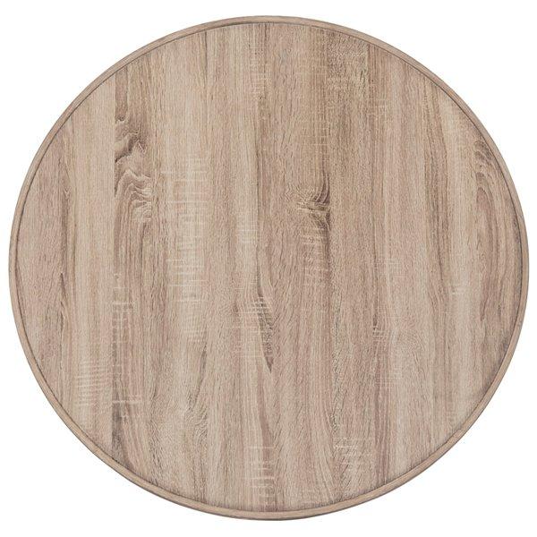 Safavieh Malone Retro Midcentury Natural Wood Coffee Table - 35.4-in Diameter