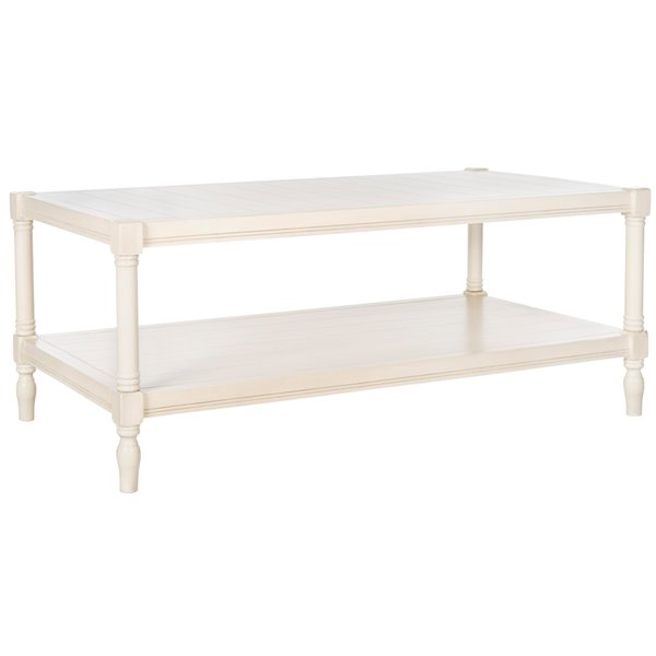 Safavieh Bela Rectangular Coffee Table - Off-White