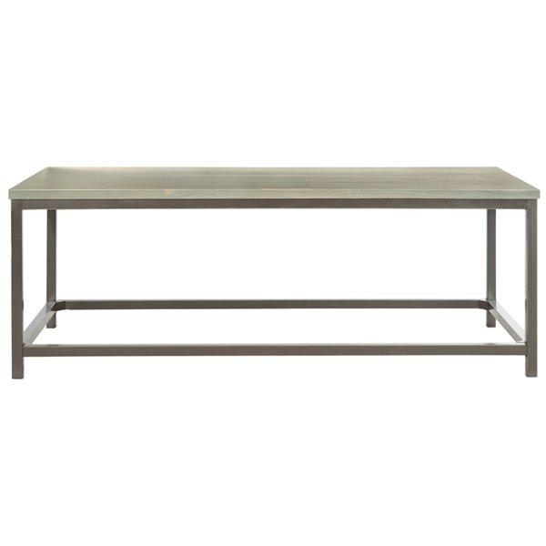 Safavieh Alec Rectangular Wood Coffee Table - Grey