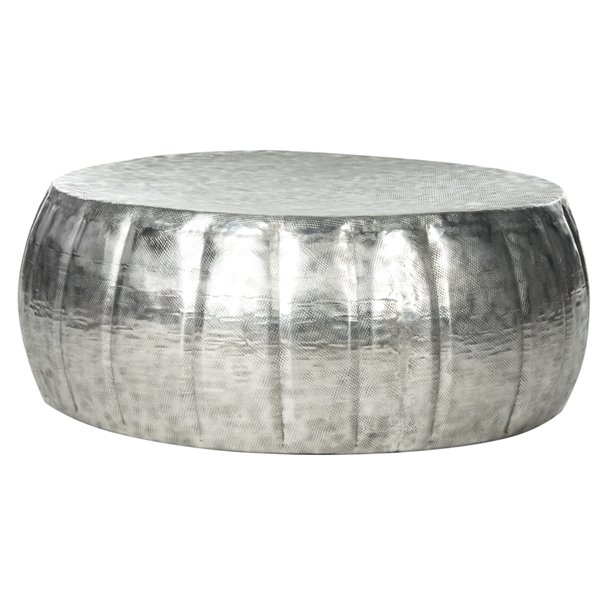 Safavieh Dara  Silver Aluminum Finish  Round Coffee Table - 33-in Diameter