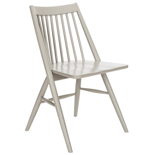 Safavieh Wren 19-in H Spindle Dining Chair  - Grey Seat and Finish (Set Of 2)