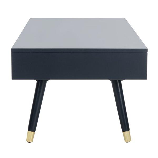 Safavieh Levinson Gold Cap Rectangular Coffee Table - Blue