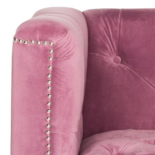 Safavieh Hollywood Glam Tufted Acrylic Plum Club Chair