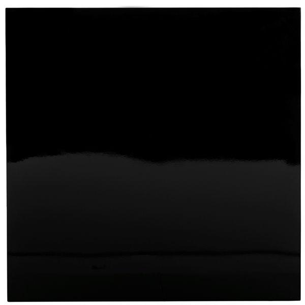 Safavieh Malone Chrome High Gloss Sqaure Coffee Table - Black 35.4-in
