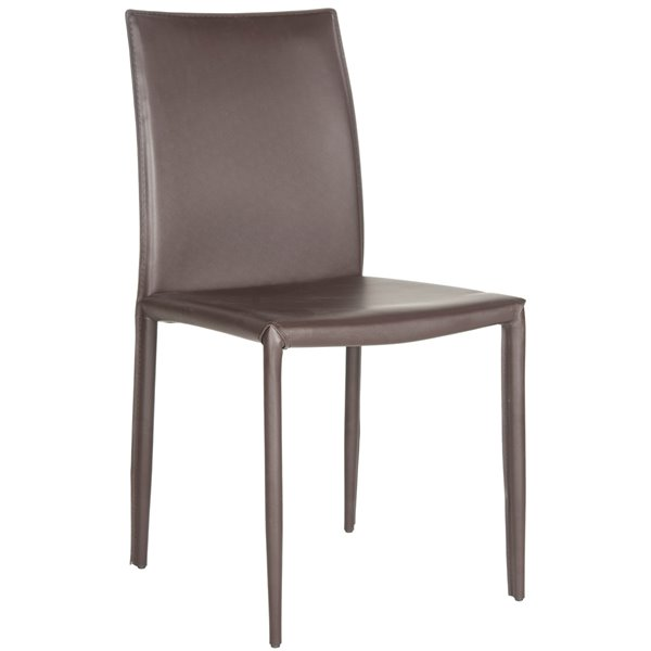 Safavieh Karna 19-in H Dining Chair  - Brown Seat and Finish (Set Of 2)