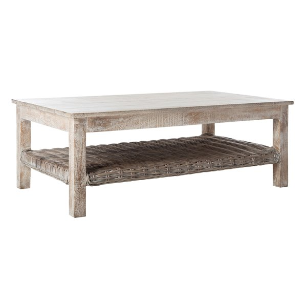 Safavieh Minerva Coffee Table - Whitewash