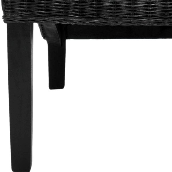Safavieh Siesta 17-in H Wicker Side Chair  - Black Seat and Finish (Set Of 2)