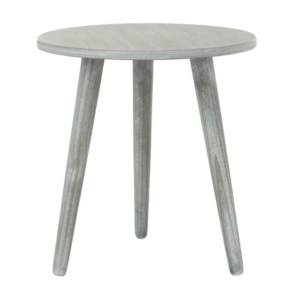 Safavieh Orion Round Wood Slate Grey  Accent Table