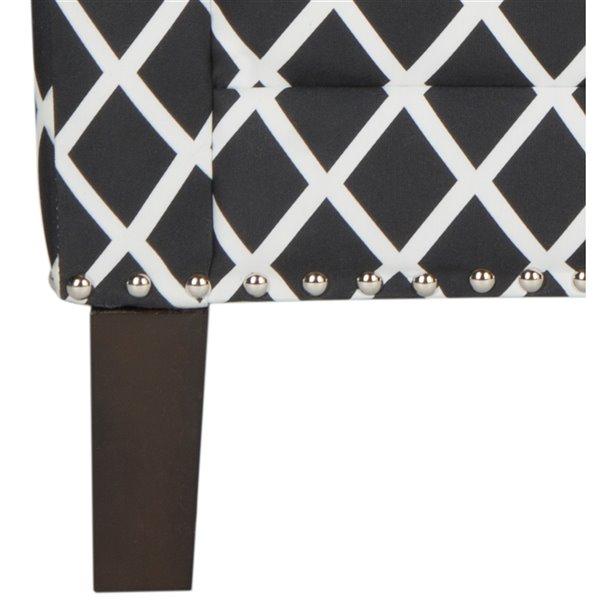 Safavieh Buckler Club Chair - Black/White/Espresso