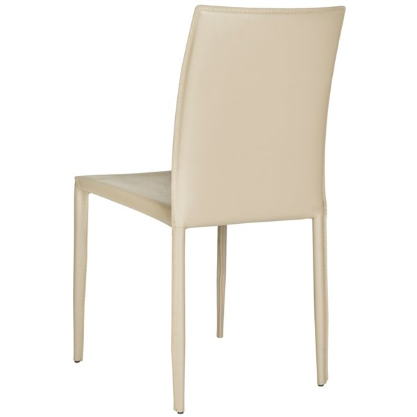 Safavieh Karna 19-in H Dining Chair  - Light Grey Seat and Finish (Set Of 2)