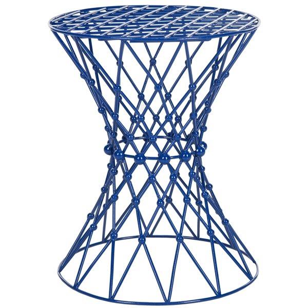 Safavieh Iron Wire Dark Bleu Accent Table / Stool