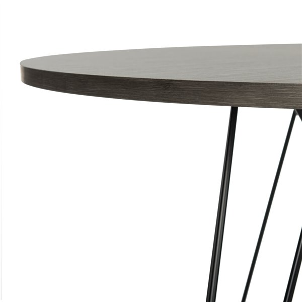 Safavieh Marino 36-in Round Dining Table - Dark Grey and Black -   - Sits 4