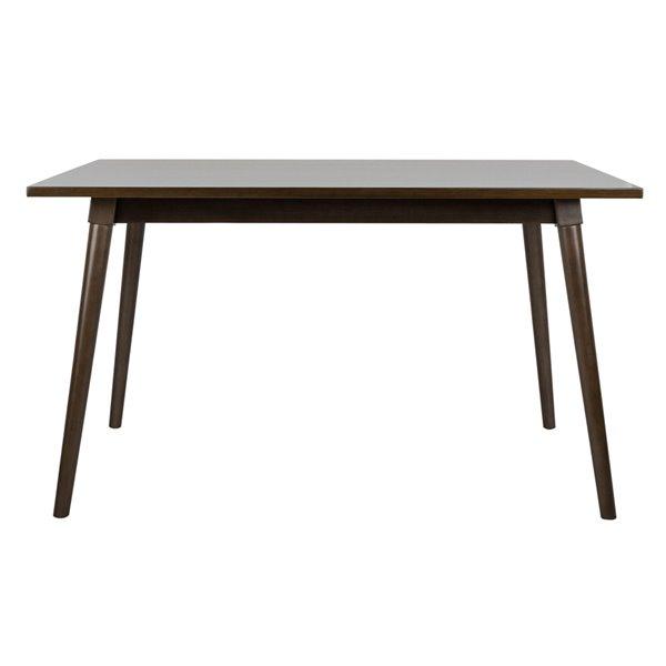 Safavieh Tia Rectangle Dining Table - Grey Walnut - 36-in L x 55-in W - Sits 4