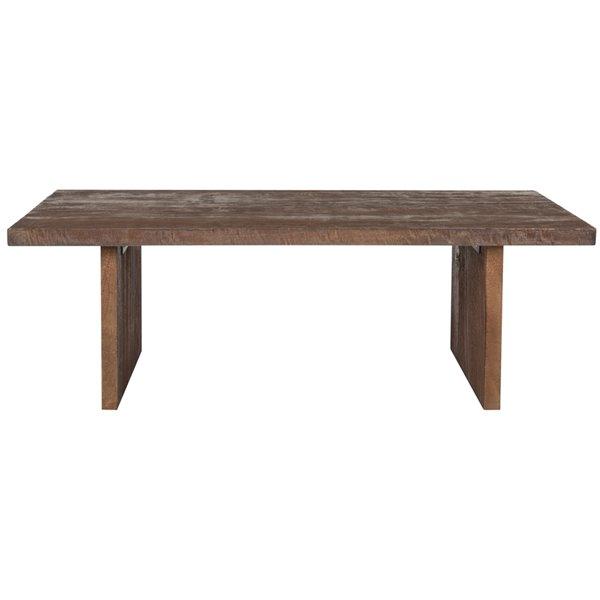 Safavieh Senjo Rouge Rectangular Wood Coffee Table