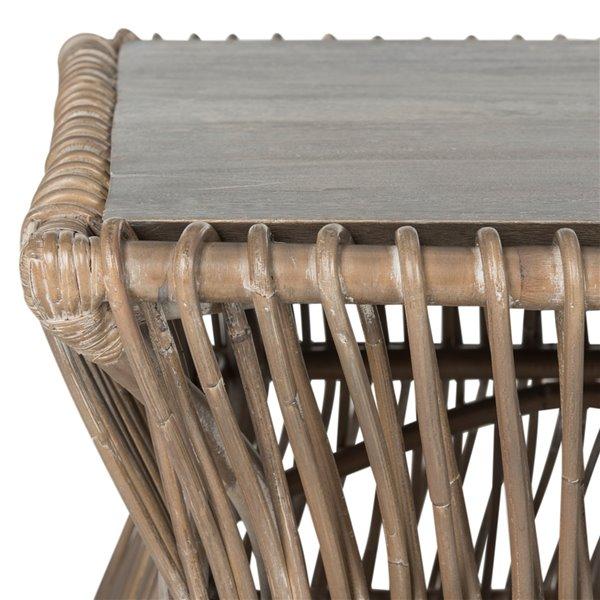 Safavieh Gensho Rectangular Wood Coffee Table - Whitewash