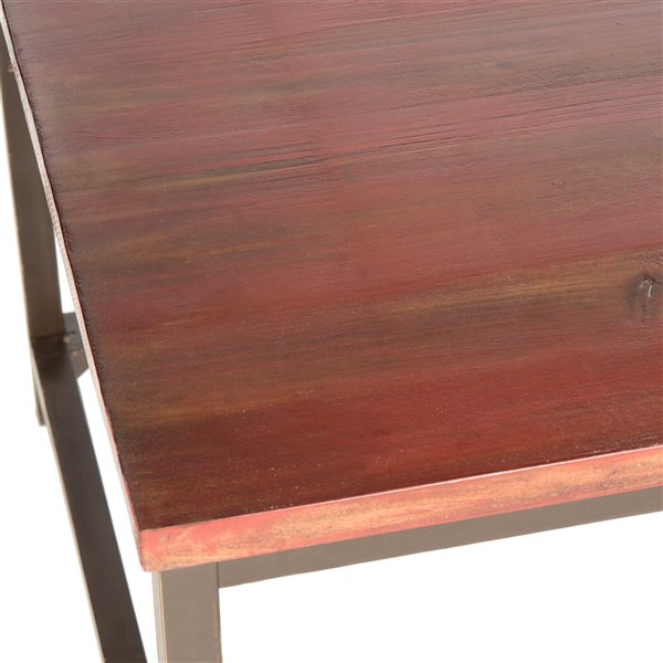 Safavieh Alec Rectangular Wood Coffee Table - Maroon