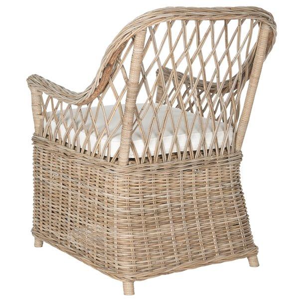 Safavieh Maluku Rattan Arm Chair - Natural