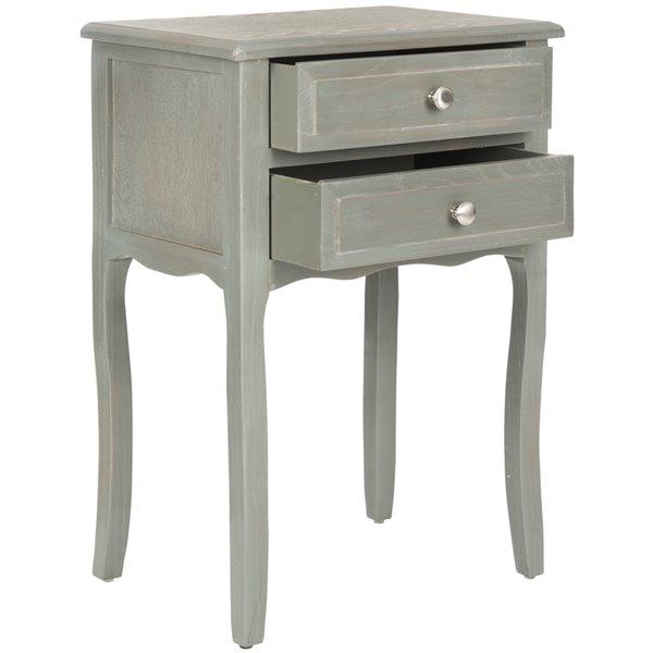 Safavieh Lori 2-Drawer French Grey End Table