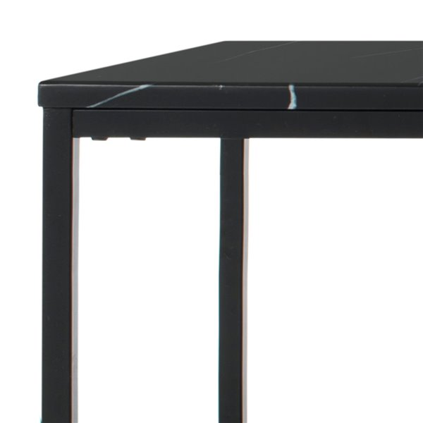 Safavieh Baize Rectangular Faux Marble Coffee Table - Black