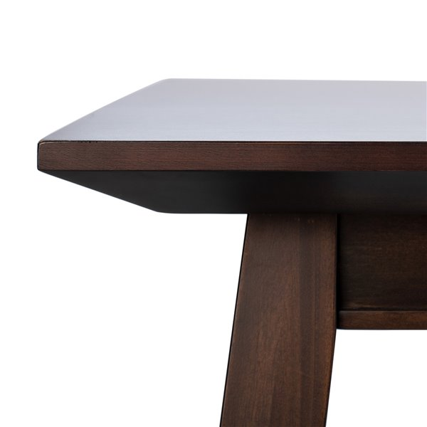 Safavieh Brayson Rectangle Dining Table - Walnut - 31.5-in L x 66.93-in W - Sits 4