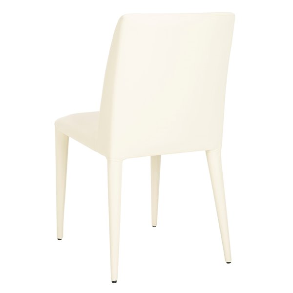 Safavieh Garretson 18-in H Leather Side Chair  - Buttercream Seat and Finish (Set Of 2)