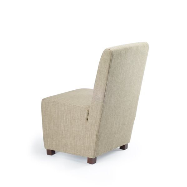 Safavieh Bleeker 19-in H Linen Chair  - Olive Beige Seat and Cherry Finish (Set Of 2)