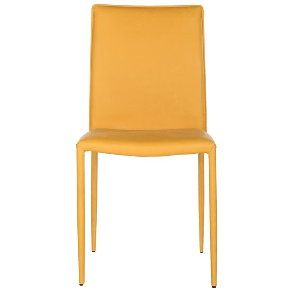 Safavieh Karna 19-in H Dining Chair  - Antique Yellow Seat and Finish (Set Of 2)