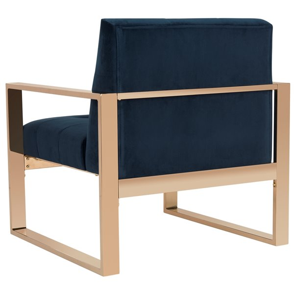 Safavieh Vasco Accent Chair - Navy