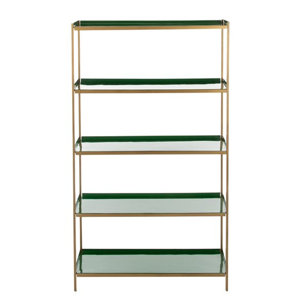 Safavieh Justine 5 Tier Etagere - Green and Brass Finish