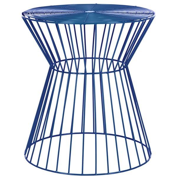 Safavieh Adele Wire Dark Blue Accent Table / Stool