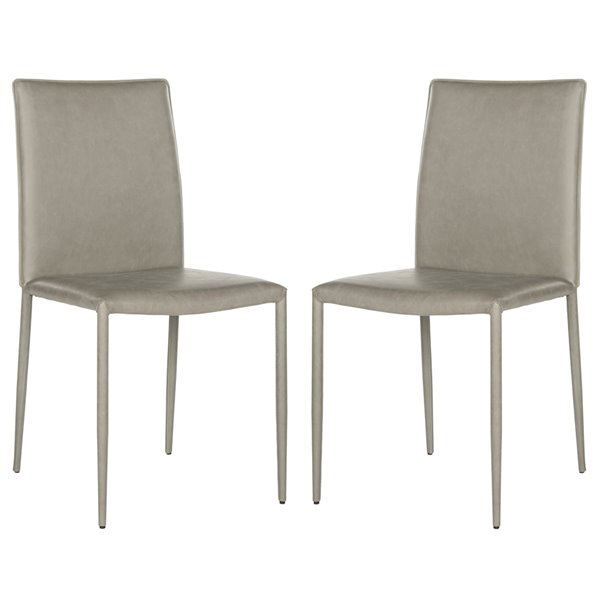 Safavieh Karna 19-in H Dining Chair  - Antique Grey Seat and Finish (Set Of 2)