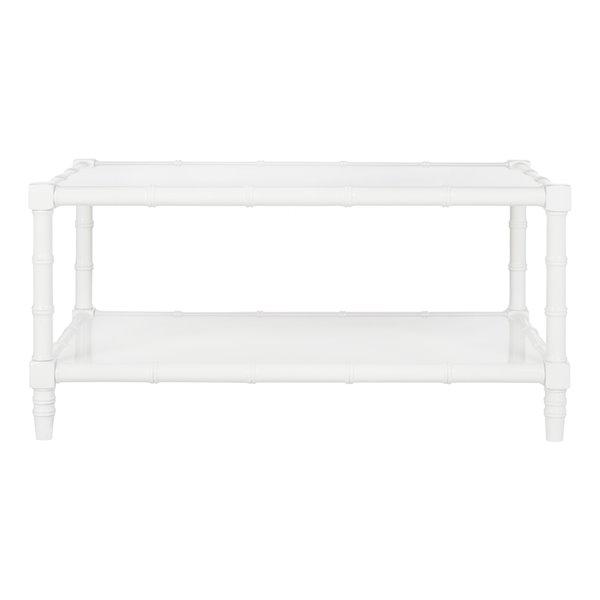 Safavieh Noam Modern Coastal Rectangular Coffee Table - White
