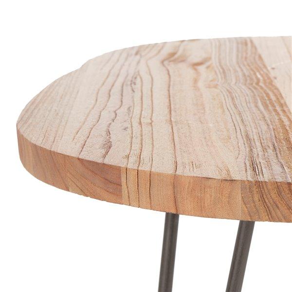 Safavieh Dale Free Edge Wood Coffee Table with Metal Legs