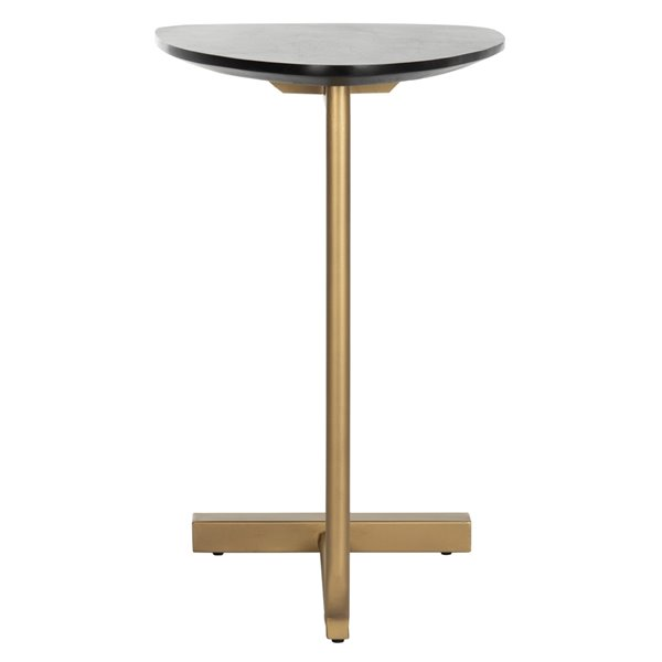 Safavieh Kaiya C-Table with Black Top and Gold Finished Base