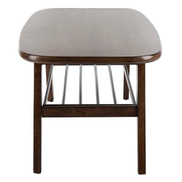 Safavieh Oren 2 Tier Rectangular Coffee Table - Dark Walnut Fnish
